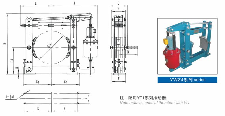 ywz4电力液压制动器